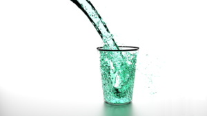 Latest Health News For Today. The colorful picture of a fresh glass of water being poured.