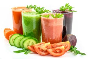 The Very Appetizing Looking Picture of Several Glasses of Vegetable Smoothies.