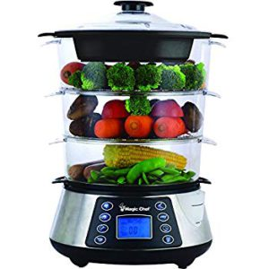 The amazing picture of the Magic chef 3-tier food steamer.