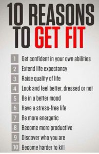The great illustrion of the 10 reasons to get fit.
