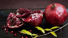 The picture of a very appealing pomegranete.
