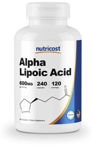 The picture of a bottle of Alpha Lipoic Acid.