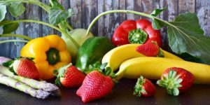 The delightful picture of an array of fruits and vegetables.