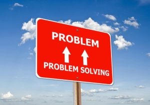 Better health for today. The illustration of a sign stating problem, problem solving