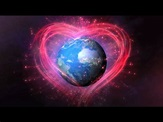 The picture of a heart circleing the world.