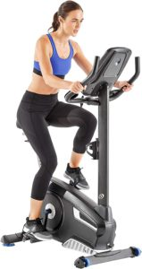 the beautiful picture of a woman on here Nautilus U616 Upright bike.